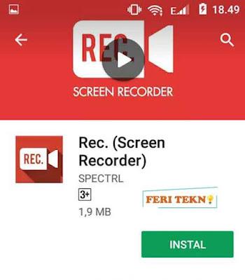 cara merekam layar hp android - feri tekno