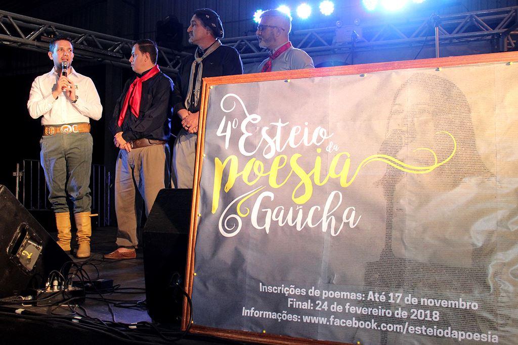 Estão abertas as inscrições para o 4º Esteio da Poesia Gaúcha