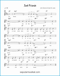 chord just friends lagu jazz standar