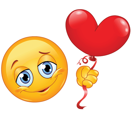 Smiley with a Heart Balloon