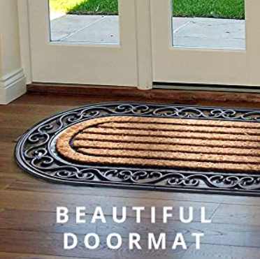 Onlymat Designer Doormat to Take off Dirt, Grit, Mud & Moisture from Shoes
