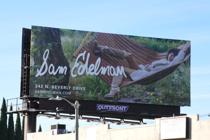 Sam Edelman boots FW19 billboard