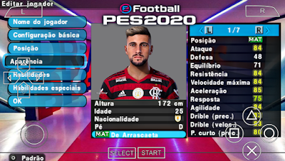 PES 2020 Brazukas PPSSPP Camera PS4