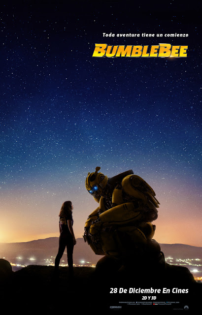 "Teaser poster de ""Bumblebee"", el spinoff de Transformers."