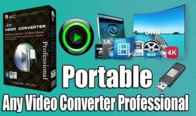 تحميل برنامج Any Video Converter Professional Portable عملاق تحويل صيغ الفيديو نسخة محمولة مفعلة