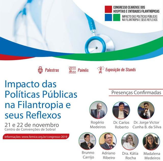 Resultado de imagem para Sobral recebe o II Congresso Cearense dos Hospitais e Entidades Filantrópicas