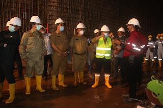 Dukung Pembangunan PLTA Batang Merangin, Al Haris Tinjau Lokasi Terowongan Air.
