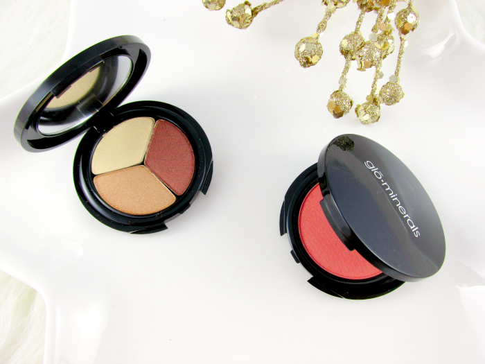 Review & Swatches: glominerals - Eyeshadow Trio Copper Sheen & Blush Papaya