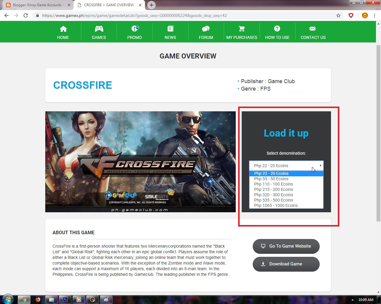 gameclub download crossfire