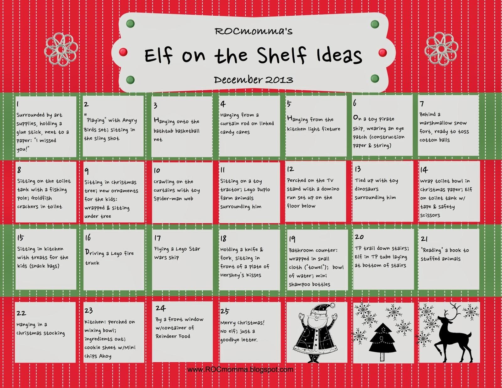 Rocmomma 25 Quick Easy Elf On The Shelf Ideas