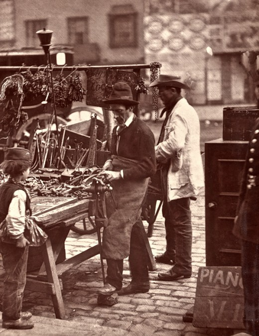 John Thomson's Street Life in London, 1876 ~ vintage everyday 1990s Hairstyles Men
