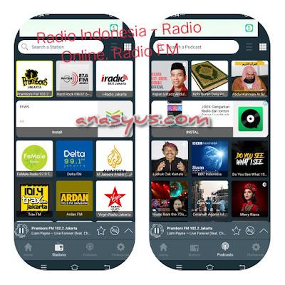 Radio Indonesia – Radio Online, Radio FM