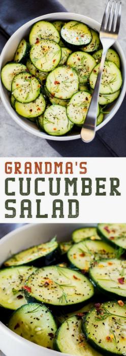 Grandma's Cucumber Salad