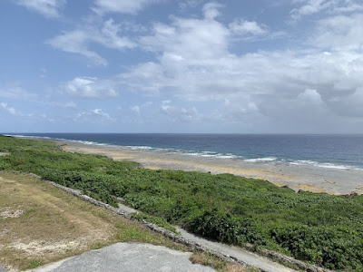底名溜池展望台から見た海