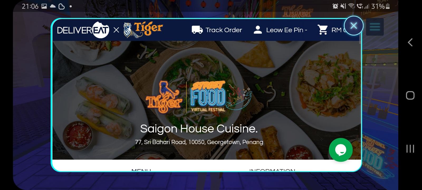Tiger Street Food Virtual Festival