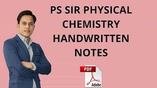 [PDF] Prince Singh (PS) Sir Physical Chemistry Notes For IIT JEE Main & Advance