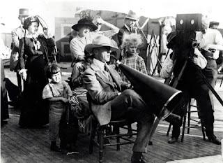 D. W. Griffith en el rodaje de Intolerancia