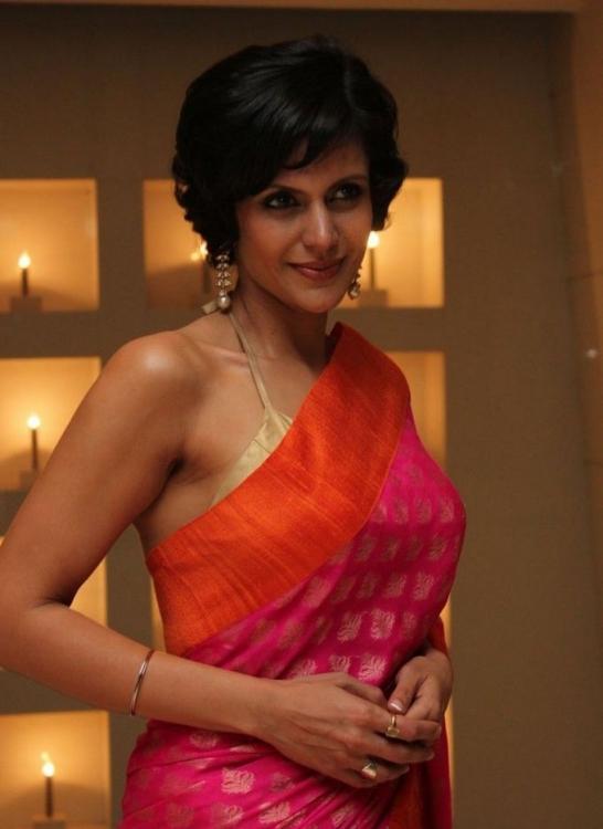 splendid majestic Mandira bedi latest photos in saree