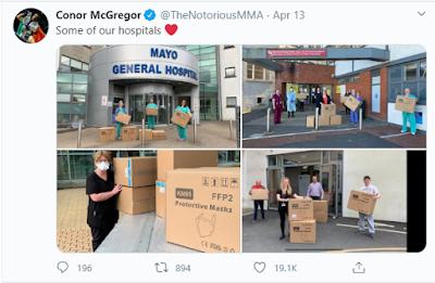 Pemain UFC McGregor Tidak Selalu Bengis Melainkan Dia Ikut Membantu Lawan Corona 2020