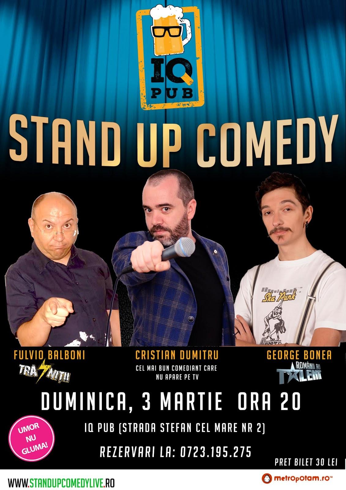 Stand-Up Comedy Duminica Seara in Constanta