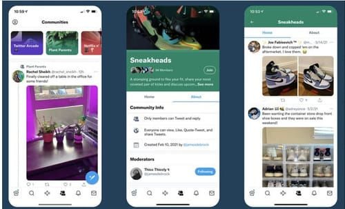Twitter tests interest-based communities