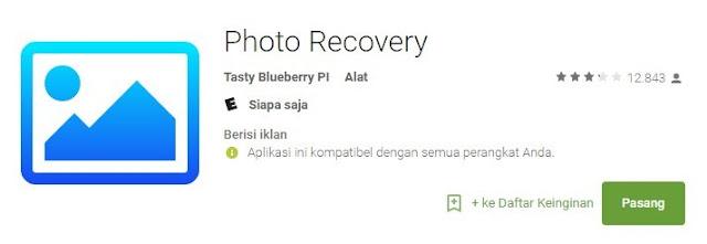 Aplikasi Photo Recovery