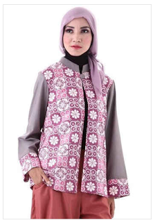 Cardigan Batik Wanita Modern Muslim