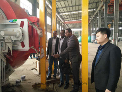 Sudan Customers Visit our factory for Composite Autoclave