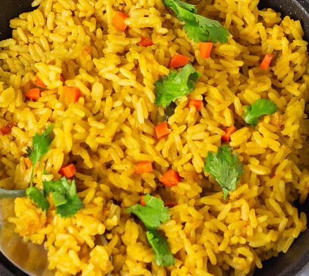 Turmeric Coconut Rice #vegan #vegetables