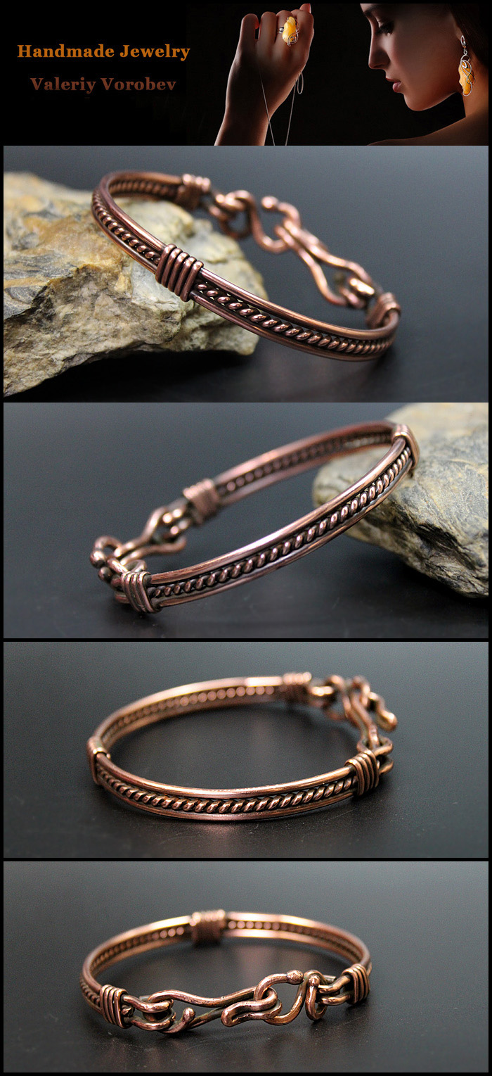 Bracelet made of copper wire.
