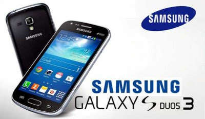Samsung Galaxy S Duos 3 Specifications - LAUNCH Announced 2014, August Also Known As Samsung Galaxy S Duos 3 G313HU DISPLAY Type TFT capacitive touchscreen, 16M colors Size 4.0 inches (~59.6% screen-to-body ratio) Resolution 480 x 800 pixels (~233 ppi pixel density) Multitouch Yes BODY Dimensions 121.4 x 62.9 x 10.8 mm (4.78 x 2.48 x 0.43 in) Weight 124 g (4.37 oz) SIM Dual SIM (Micro-SIM, dual stand-by) PLATFORM OS Android OS, v4.4.2 (KitKat) CPU Dual-core 1.2 GHz Cortex-A7 MEMORY Card slot microSD, up to 32 GB (dedicated slot) Internal 4 GB, 512 MB RAM CAMERA Primary 5 MP, autofocus, LED flash Secondary VGA Features Geo-tagging Video 720p@30fps NETWORK Technology GSM / HSPA 2G bands GSM 850 / 900 / 1800 / 1900 - SIM 1 & SIM 2 3G bands HSDPA 900 / 2100 Speed HSPA 21.1/5.76 Mbps GPRS Yes EDGE Yes COMMS WLAN Wi-Fi 802.11 b/g/n, Wi-Fi Direct, hotspot GPS Yes, with A-GPS, GLONASS USB microUSB v2.0 Radio FM radio Bluetooth v4.0, A2DP FEATURES Sensors Accelerometer Messaging SMS(threaded view), MMS, Email, Push Email, IM Browser HTML5 Java No SOUND Alert types Vibration; MP3, WAV ringtones Loudspeaker Yes 3.5mm jack Yes BATTERY  Removable Li-Ion 1500 mAh battery Stand-by  Talk time  Music play  MISC Colors Black, Gray SAR US 1.07 W/kg (head)     1.07 W/kg (body)     SAR EU 0.53 W/kg (head)     0.55 W/kg (body)      - MP3/eAAC+/WAV/Flac player - MP4/H.264 player - Photo viewer/editor