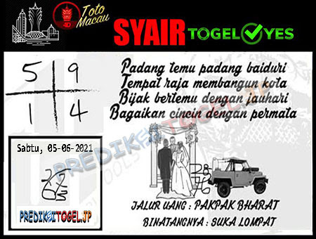 Syair Togel Yes Macau Sabtu