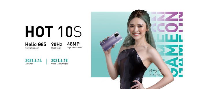 Infinix HOT 10S gaming smartphone to be available in Shopee for as low as Php 5,490