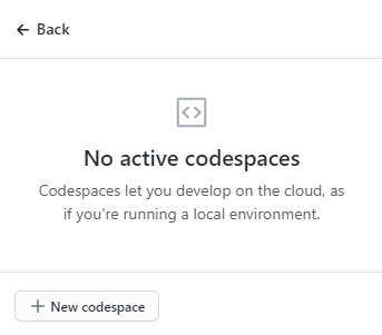 + New codespace