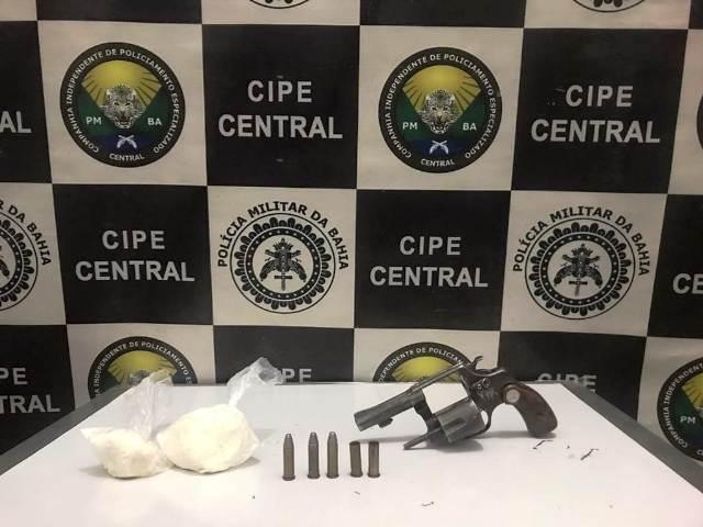 Cipe Central apreende arma e suspeito é morto em troca de tiros, em Maracás