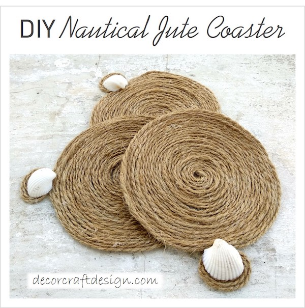 DIY Nautical Drink Coaster Tutorial