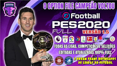 eFootball PES 2020 PS4 Compilation Option File by Emerson Pereira