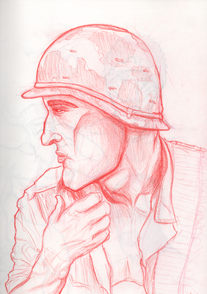 jackson miller | art feed: Soldier Sketch