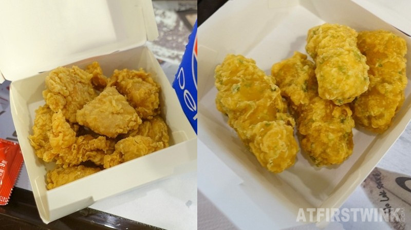 KFC Hong Kong hot shots fried chicken nori fish bites