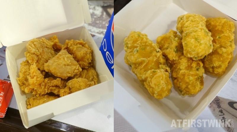 KFC Hong Kong hot shots fried chicken nori fish bites