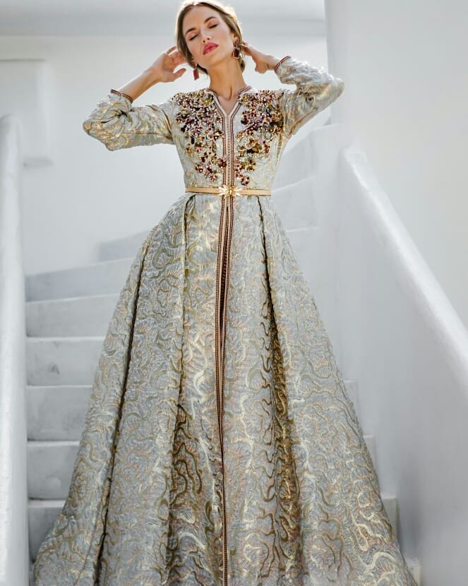 caftan mariage de luxe en vente à paris