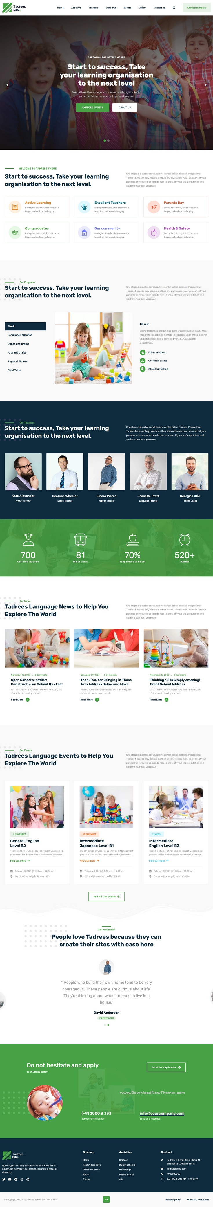 Minimal School WordPress Theme