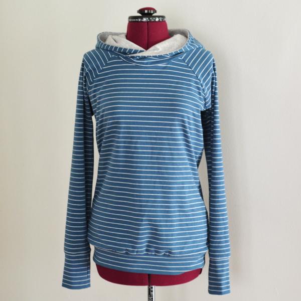 cozy birdhouse | striped lane raglan hoodie