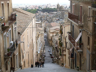 The city of Caltagirone in Sicily, where Prime Minister Mario Scelba was born in 1901