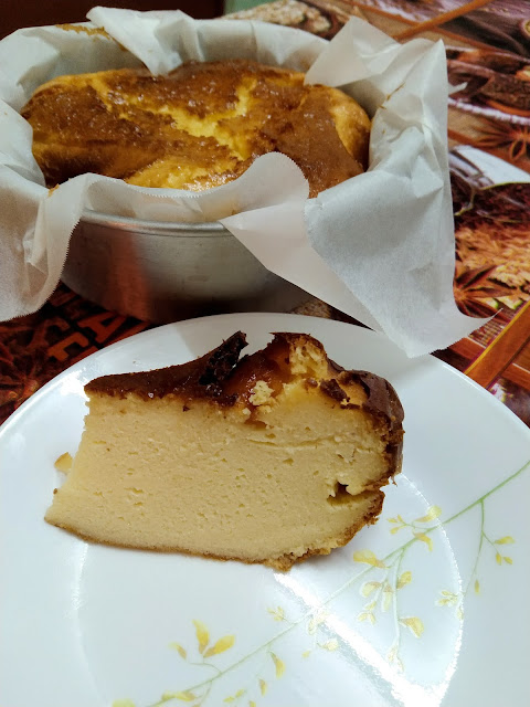 burned cheese cake airfryer
