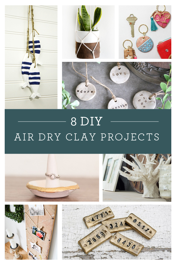 8 DIY Air Dry Clay Project Ideas #monthlydiychallenge