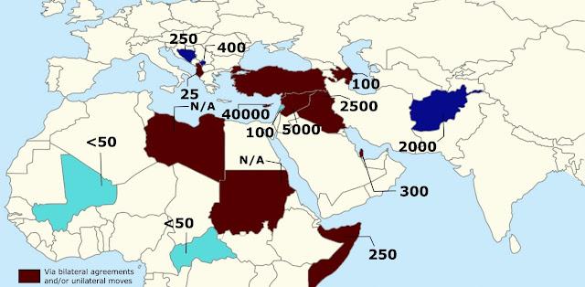 Αυτός είναι ο χάρτης με την τουρκικές στρατιωτικές δυνάμεις ανά την υφήλιο