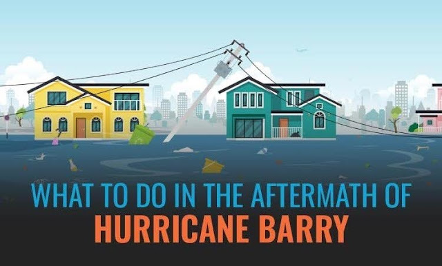 What To Do in the Aftermath of Hurricane Barry #infographic