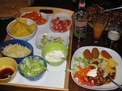 Chili con Carne und Tex-Mex Abendessen