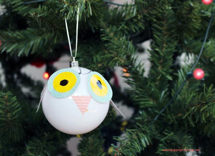 Bolas para el árbol DIY: animales del bosque
